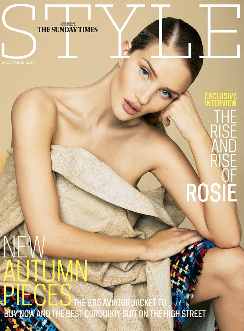 Rosie Huntington-Whiteley on Sunday Times Style October 15th, 2017 Cover