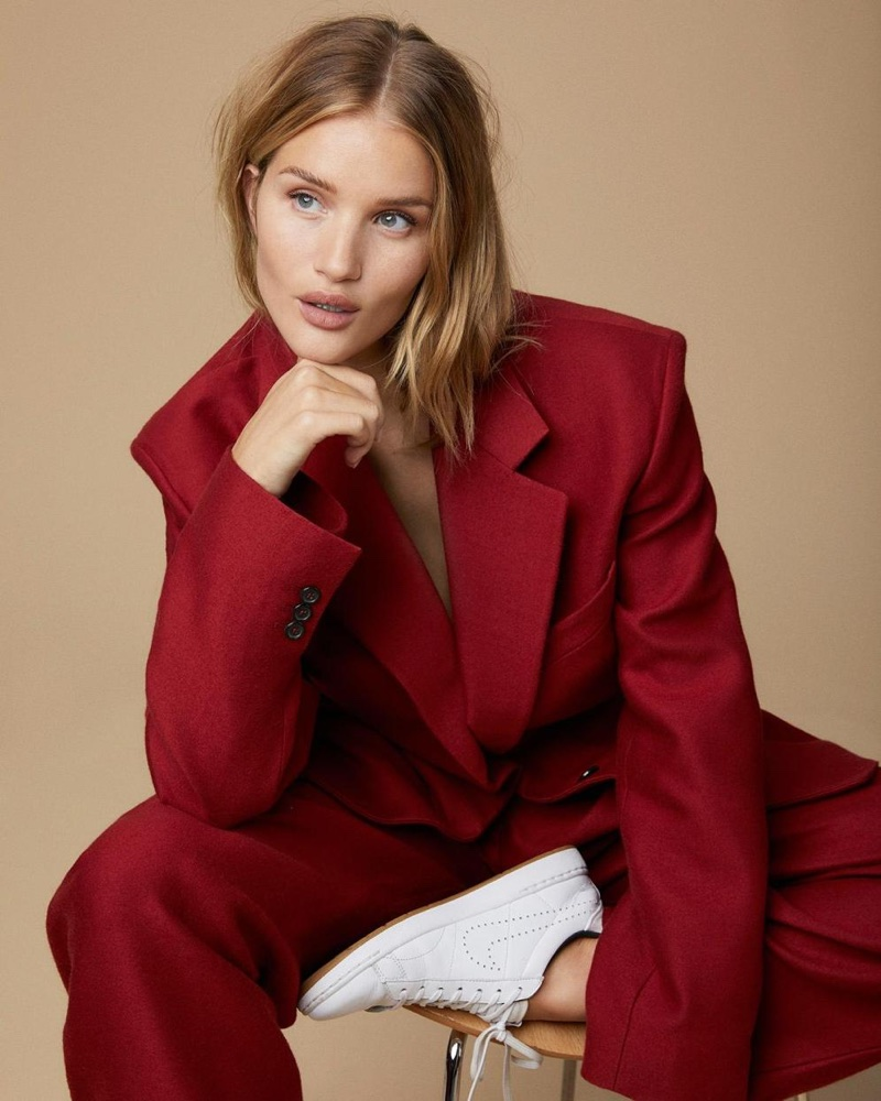 Rosie Huntington-Whiteley Poses in Fall Outerwear for Sunday Times Style