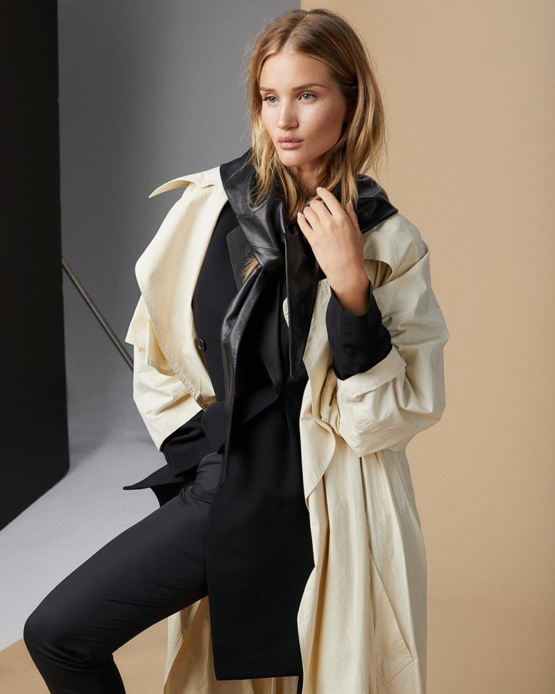 Rosie Huntington Whiteley Poses In Fall Outerwear For