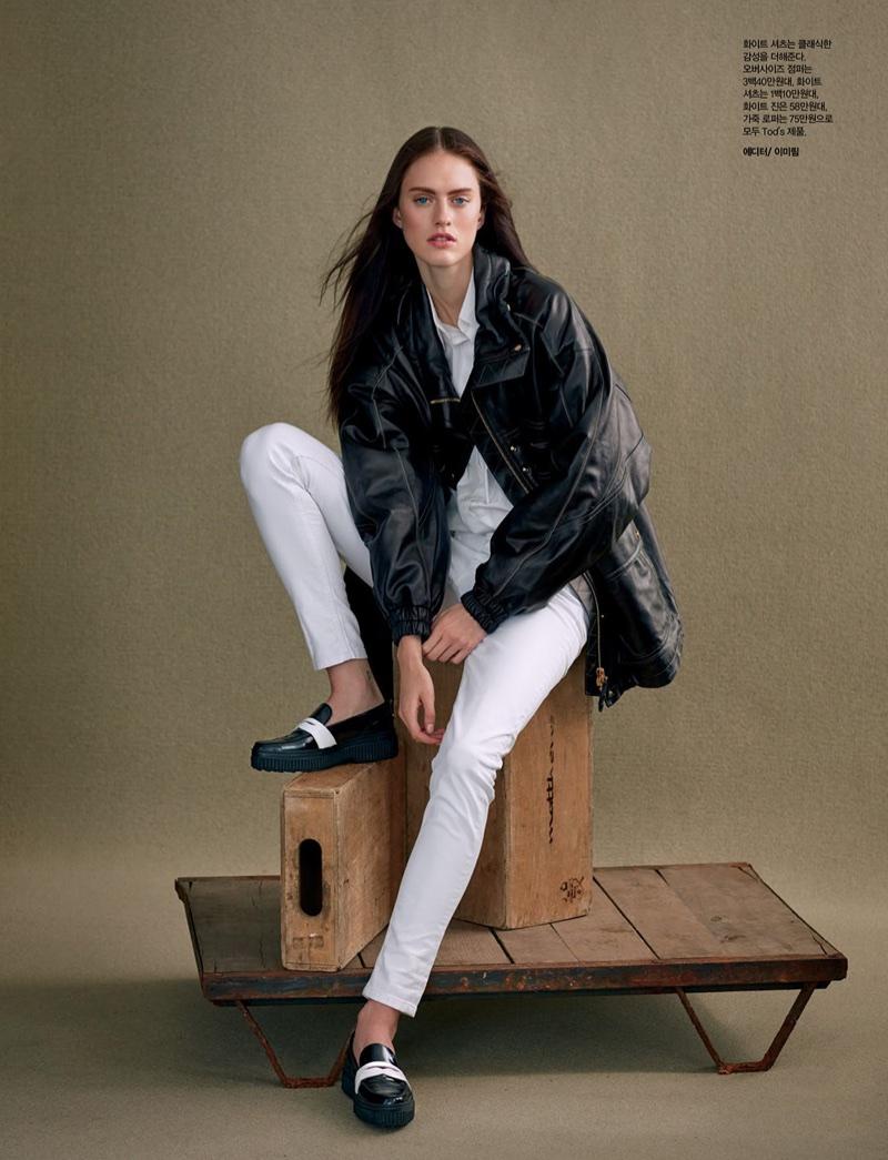 Sarah Brannon Poses in Tod's Fashions for Harper's Bazaar Korea