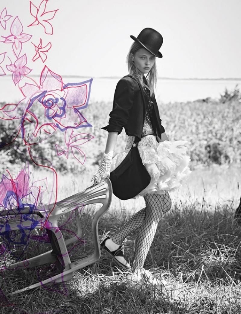 Sasha Pivovarova Shows Off Her Artistic Side for Interview Magazine