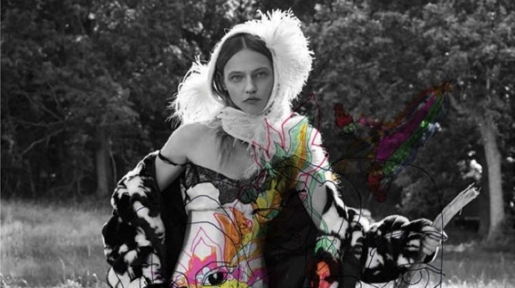 Sasha Pivovarova Shows Off Her Artistic Side for Interview Magazine