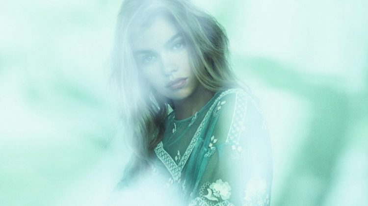 Stella Maxwell Models Delicate & Masculine Styles for Harper's Bazaar Germany
