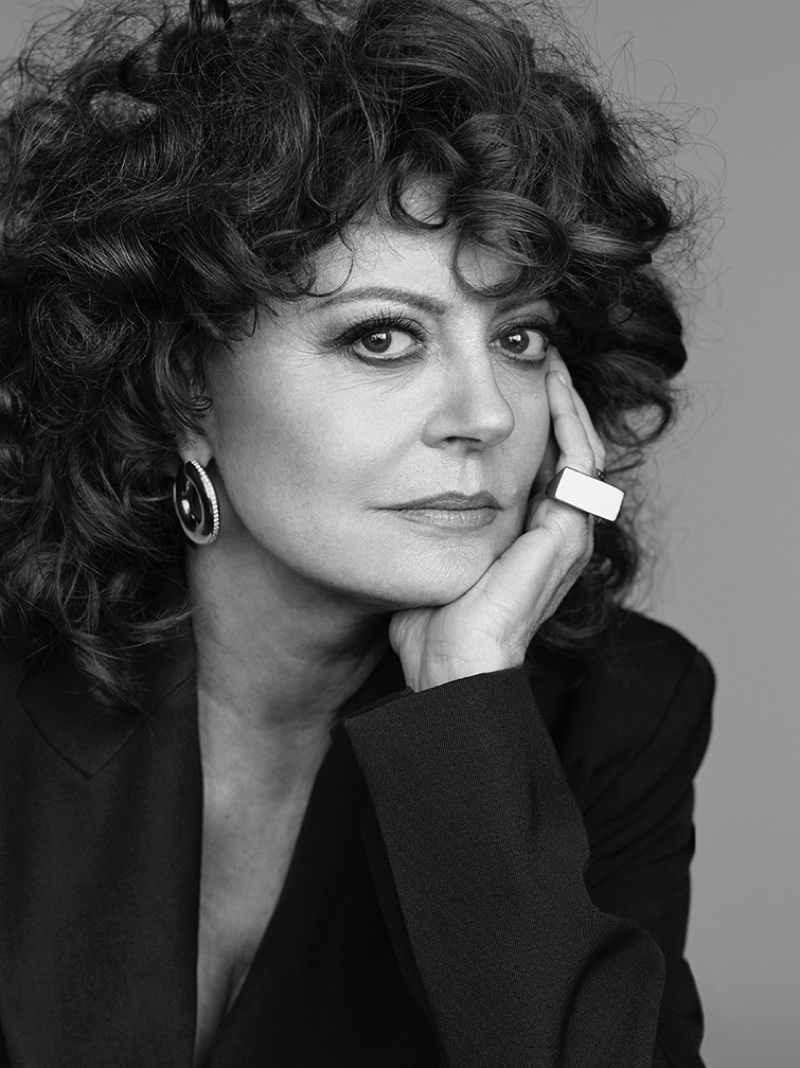Flashing a smile, Susan Sarandon wears Celine jacket