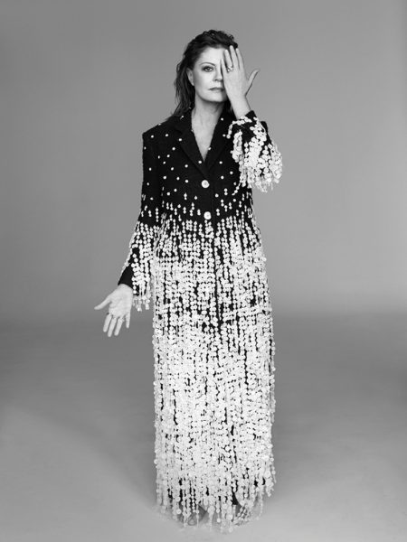 Susan Sarandon Wears Chic Suiting in ELLE UK Cover Shoot