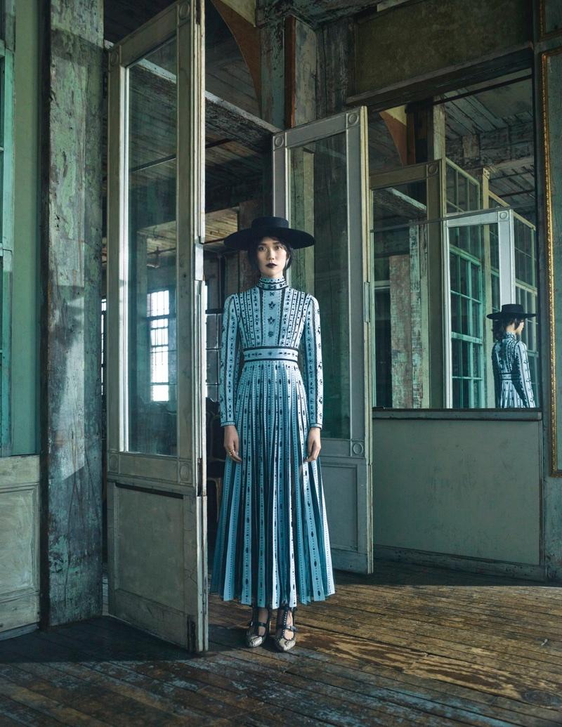 Tao Okamoto Poses in Romantic Dresses for Violet Book Japan