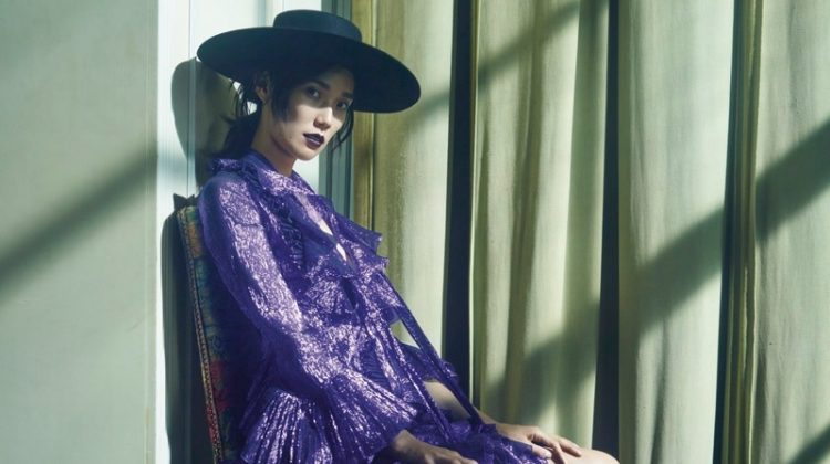 Tao Okamoto Poses in Romantic Dresses for Violet Book Japan