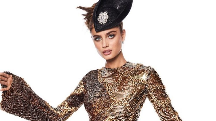Taylor Hill Turns Up the Glam Factor for Vogue Japan