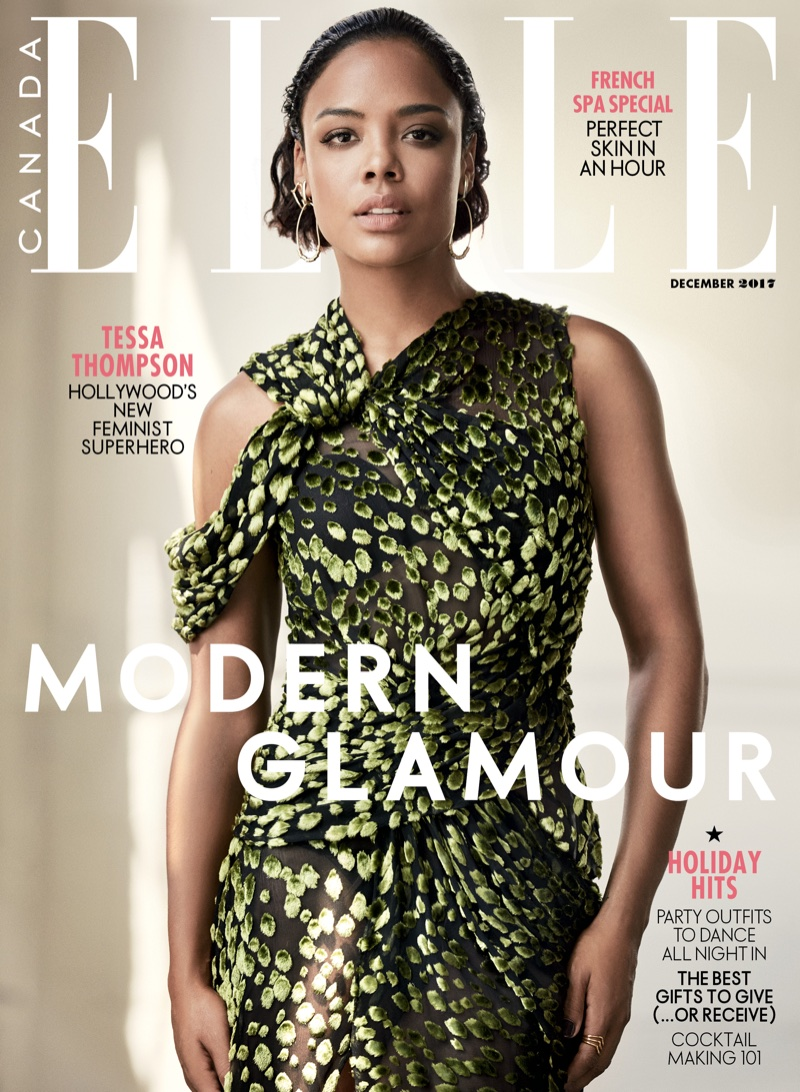 Tessa Thompson on ELLE Canada December 2017 Cover