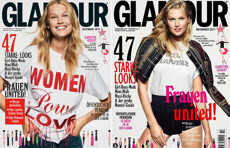 Toni Garrn Poses in Casual Chic Looks for Glamour Germany
