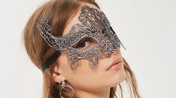 Topshop Filigree Silver Mask $14