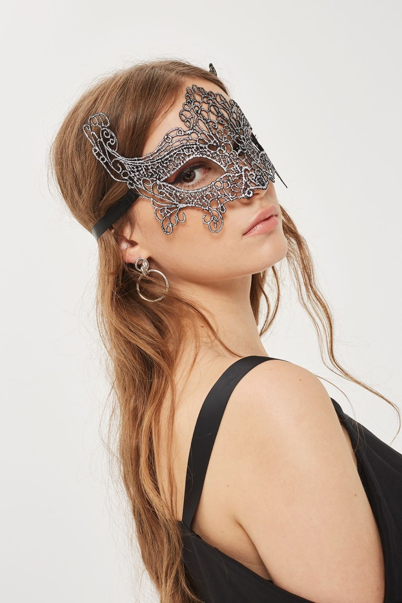 Topshop Filigree Silver Mask $14