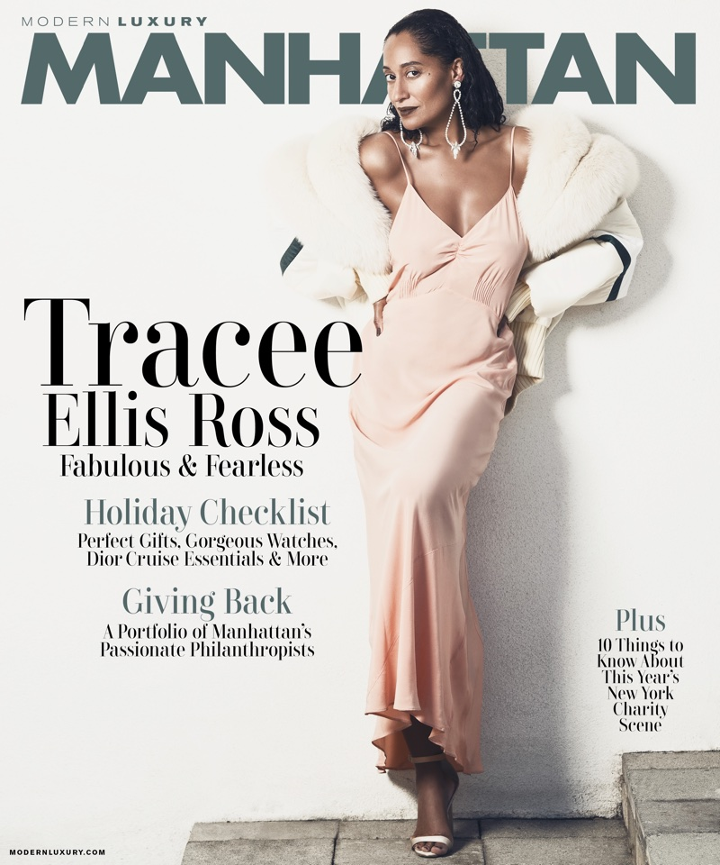 Actress Tracee Ellis Ross graces Modern Luxury Manhattan November 2017 Cover