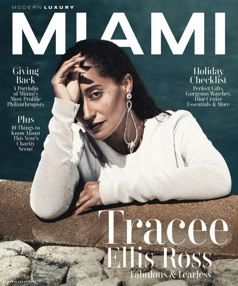 Tracee Ellis Ross on Modern Luxury Miami November 2017 Cover