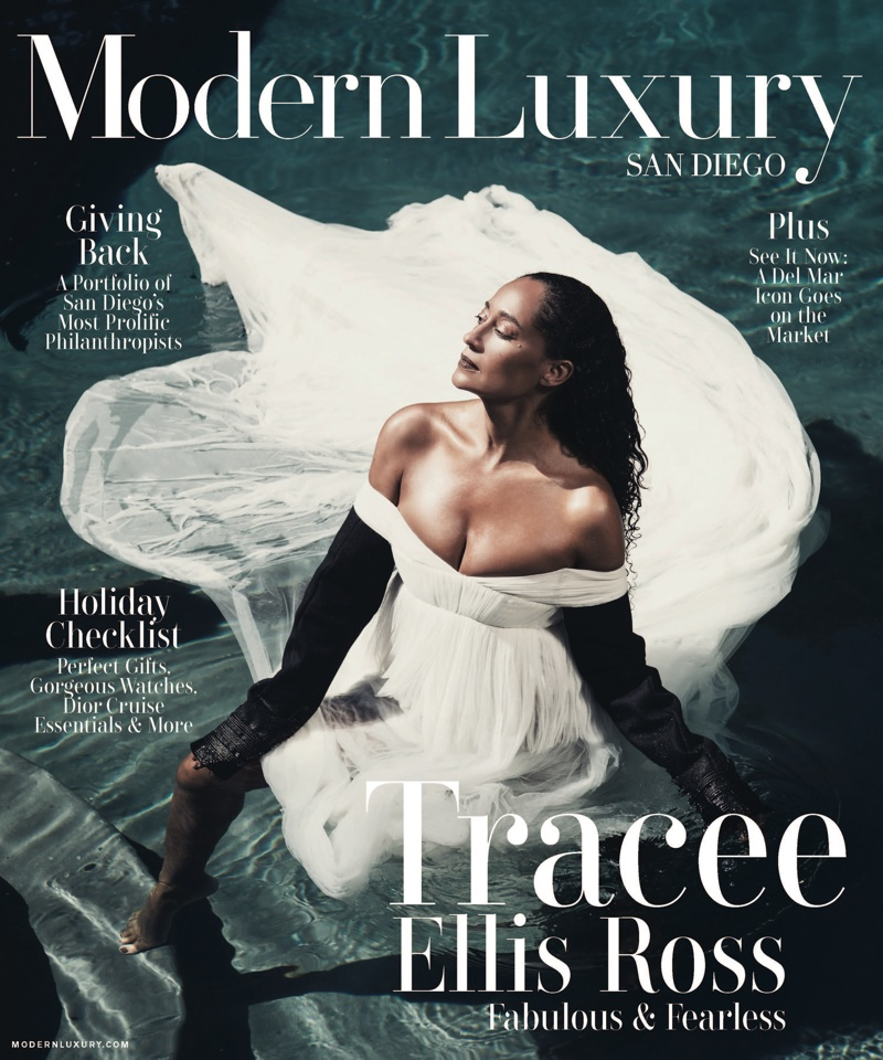 Tracee Ellis Ross on Modern Luxury San Diego November 2017 Cover