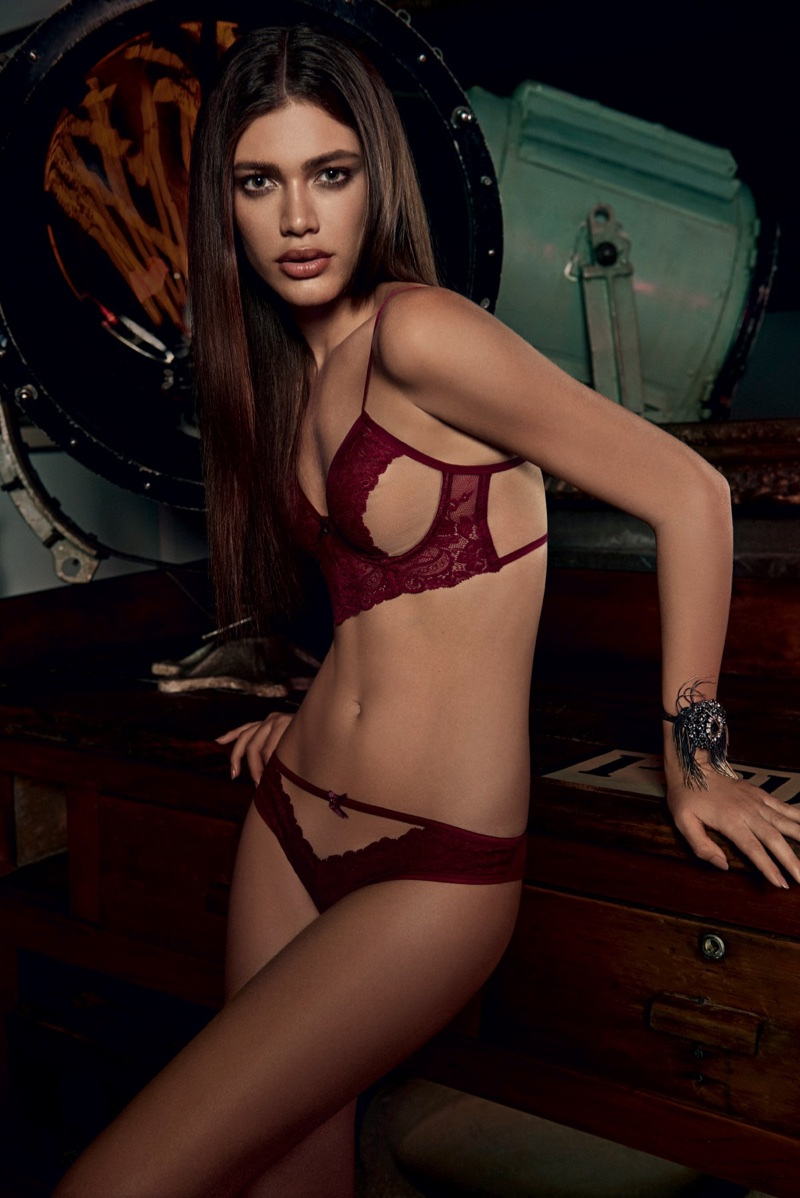 Transgender model Valentina Sampaio poses in Alexandre Herchcovitch for Hope lingerie campaign