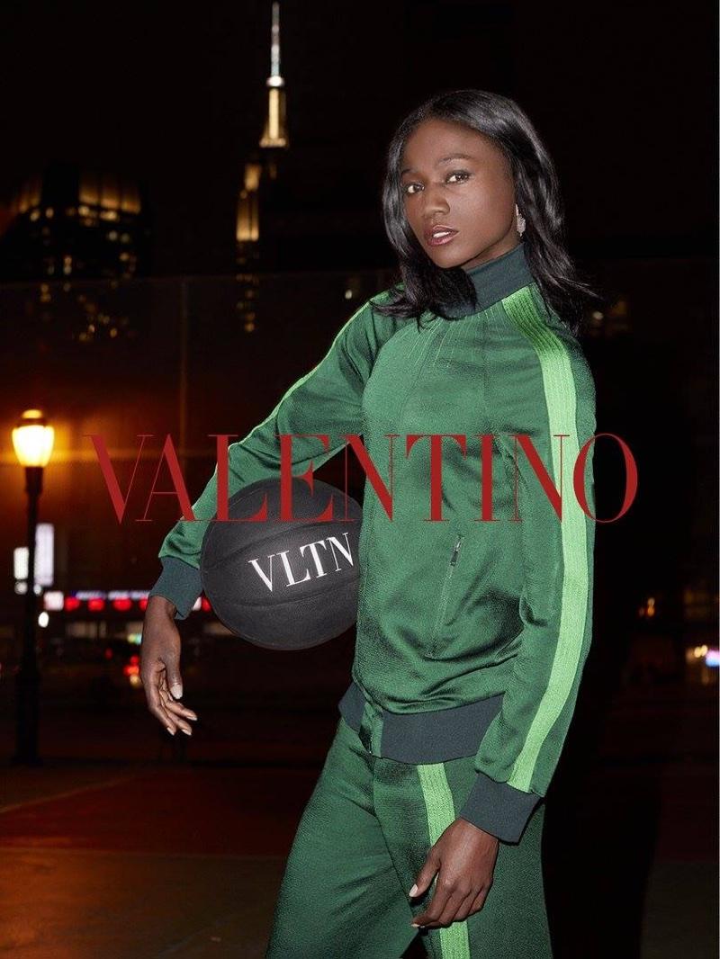 Tori Bowie stars in Valentino's resort 2018 campaign