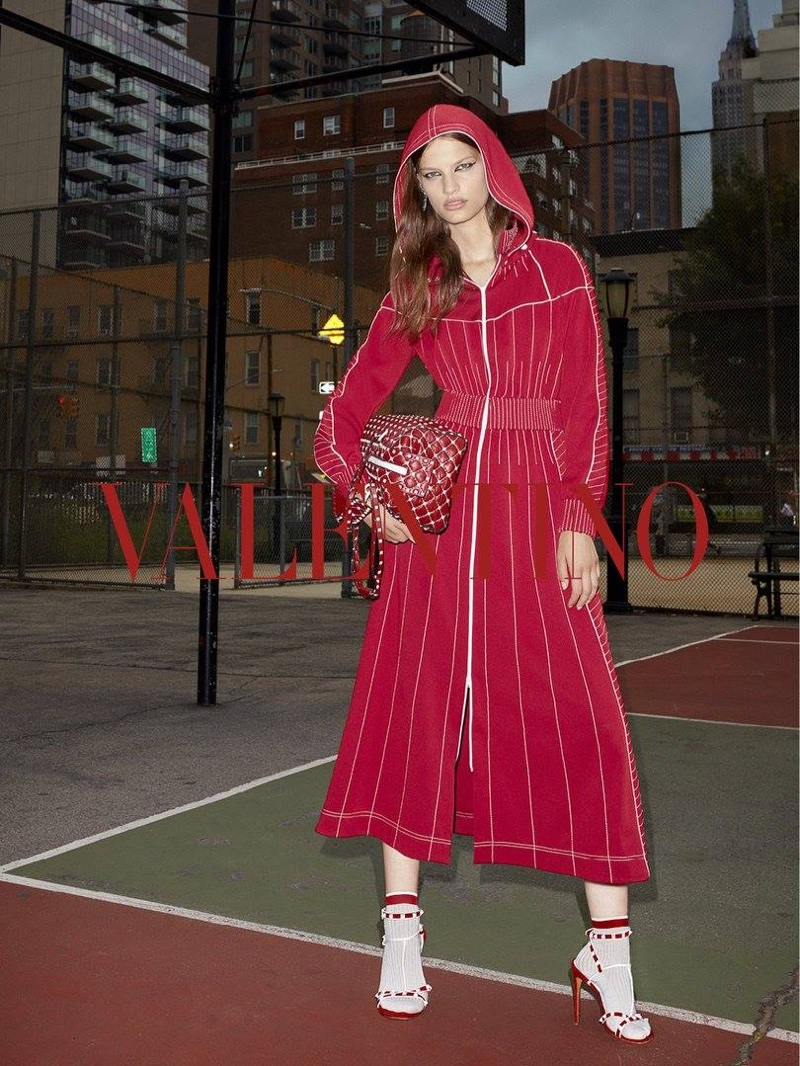 Valentino captures resort 2018 campaign at New York's St. Vartan Park basketball court