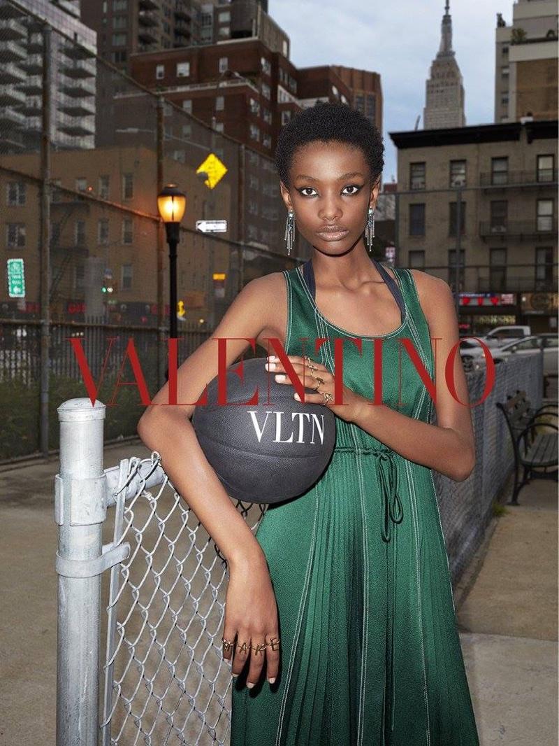 Imari Karanja fronts Valentino's resort 2018 campaign