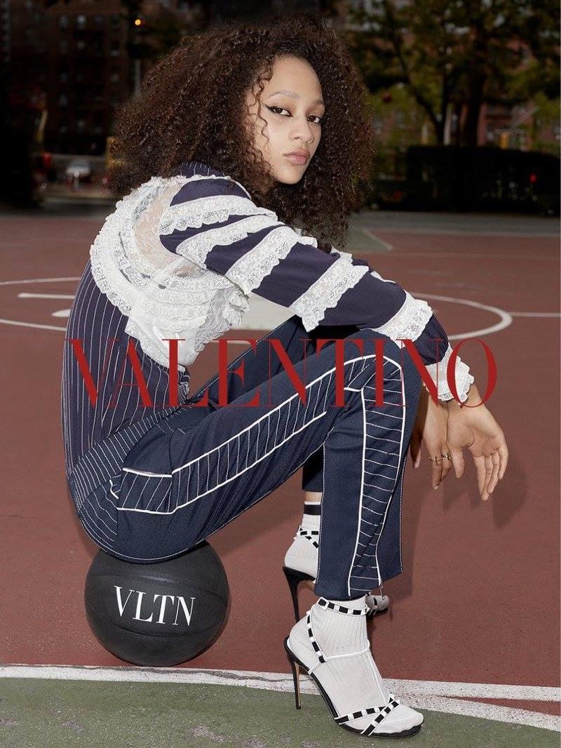 Selena Forrest stars in Valentino's resort 2018 campaign