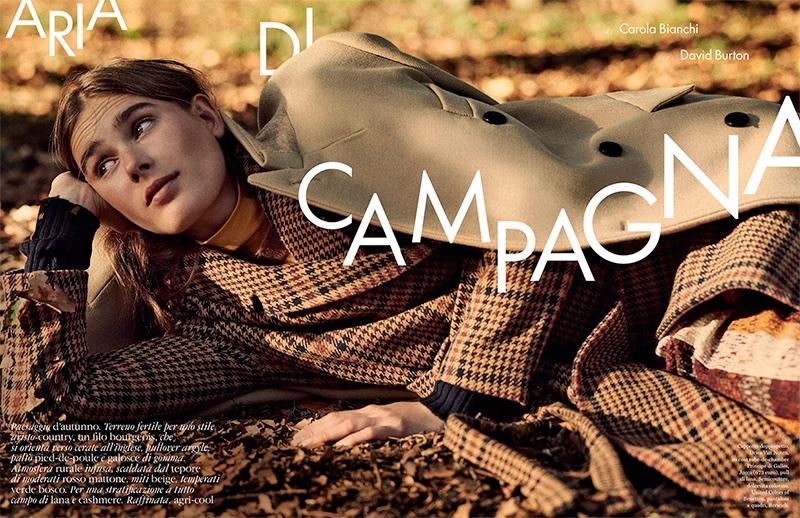 Vera van Erp Models Layered Autumn Styles in ELLE Italy