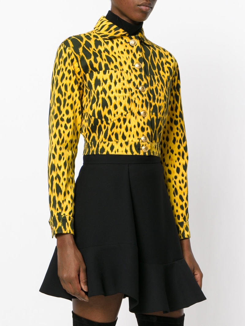 Versace Vintage Animal Print Jacket $3,368