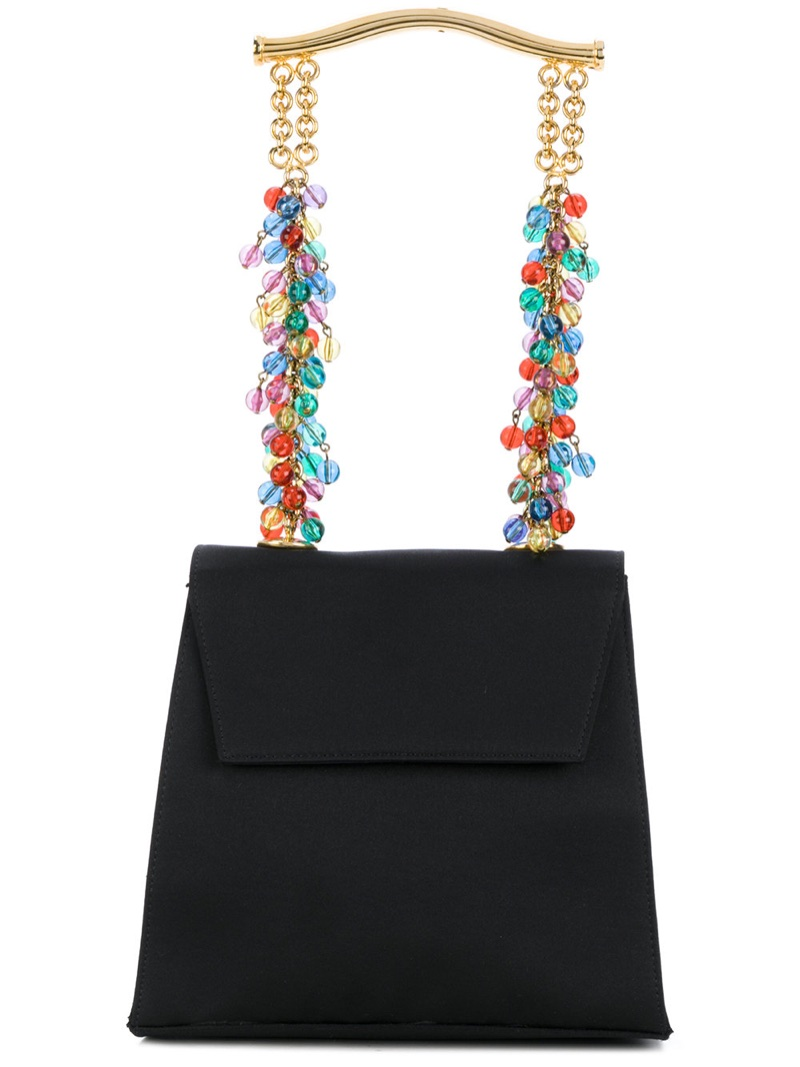 Versace Vintage Beaded Strap Evening Tote $4,304