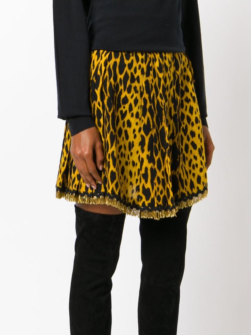 Versace Vintage Leopard Print Mini Skirt $2,822