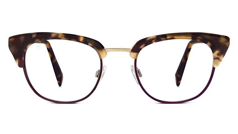 Warby Parker Dewey Glasses in Rosewood Tortoise with Merlot $195