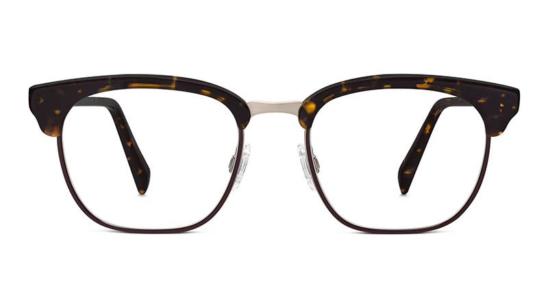 Warby Parker Lowell Glasses in Burnt Amber Tortoise with Auburn $195
