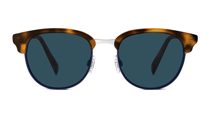 Warby Parker Webster Sunglasses in Oak Barrel with Navy $195
