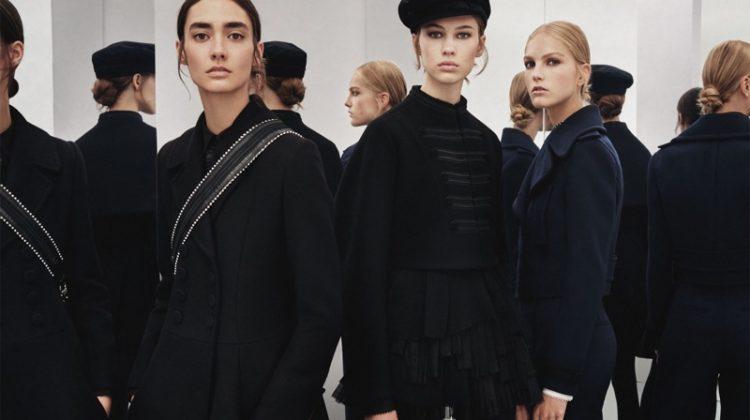 Kirin Dejonckheere, Amanda Googe and Lex Herl front Zara Studio fall-winter 2017 collection