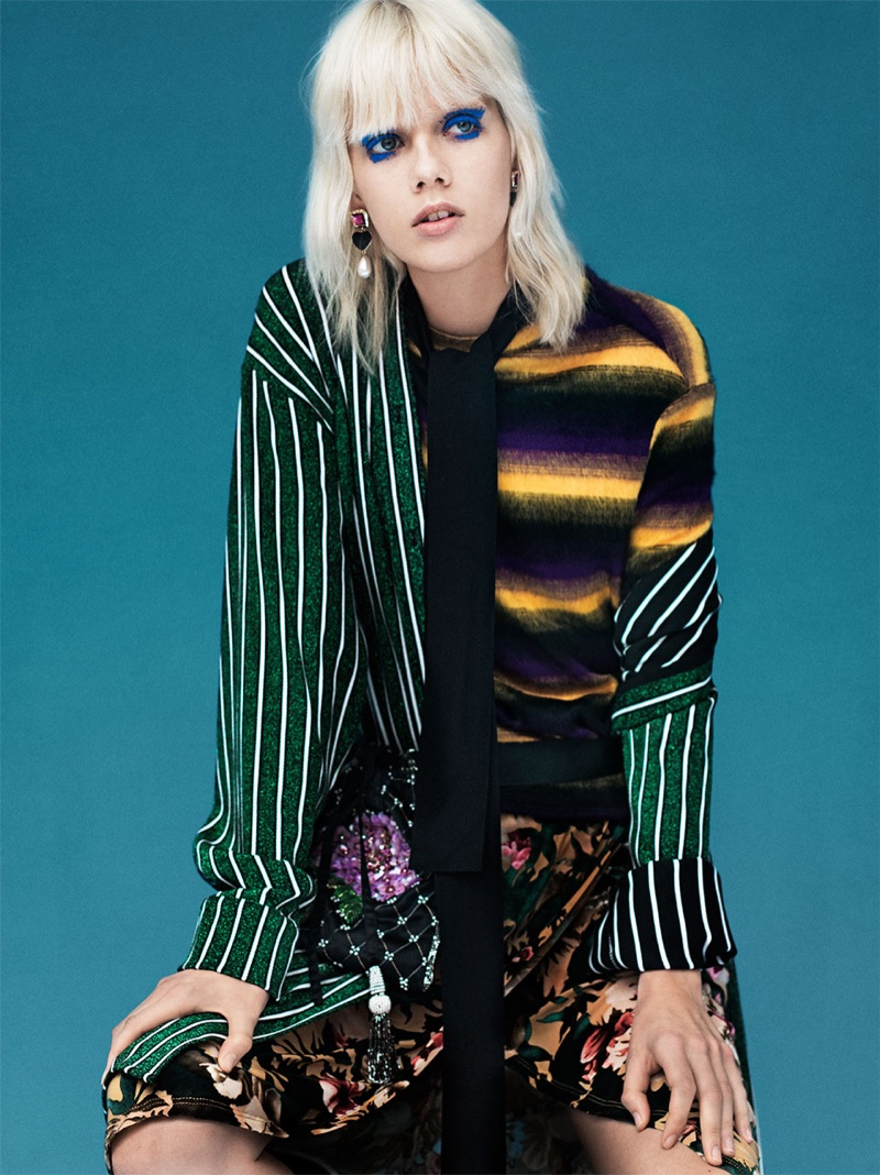 Zara TRF embraces striped for 'Lights Galore' lookbook