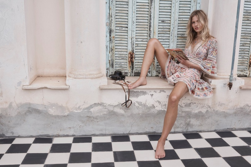 Zimmermann's resort 2018 campaign features the Lovelorn floral flutter dress