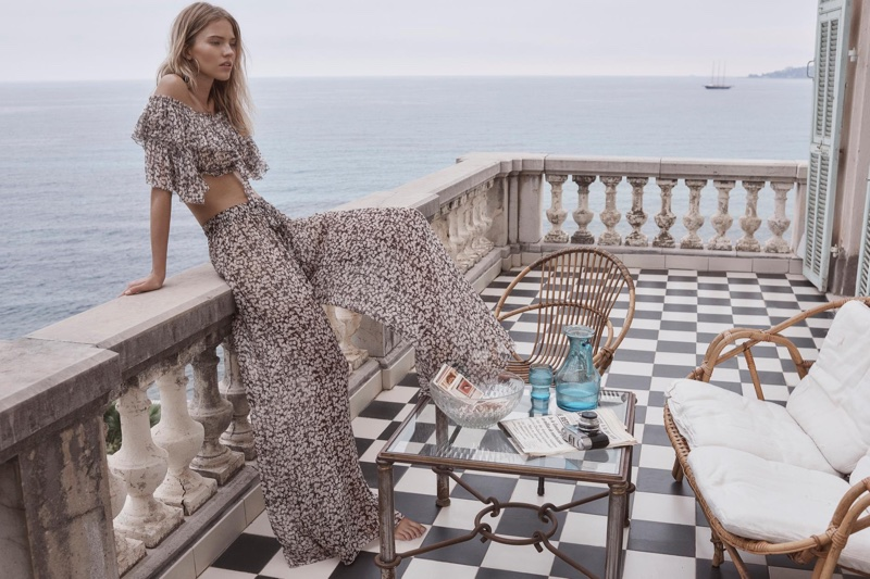 Zimmermann's resort 2018 campaign features Prima Cherry crop top and pant
