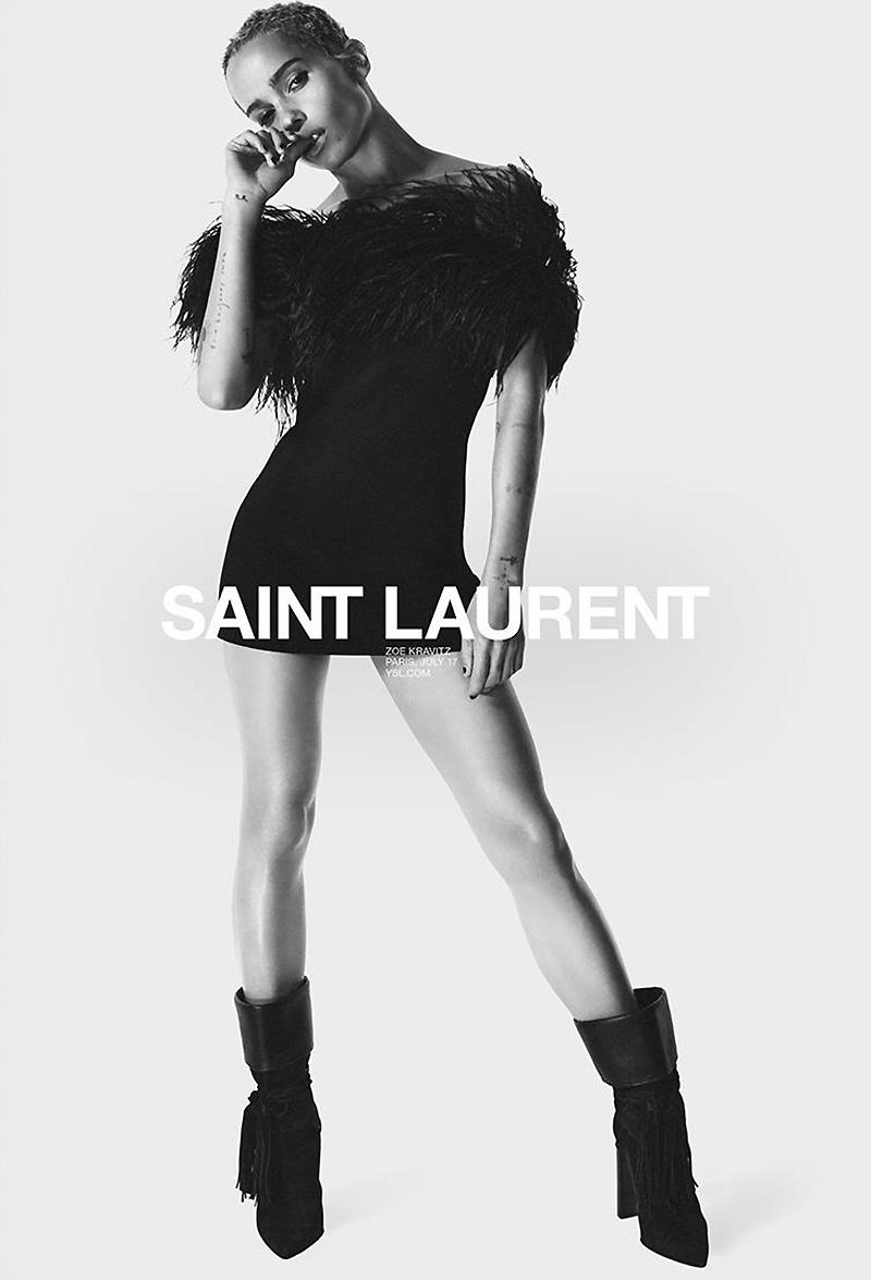 Saint Laurent Spring 2018 Campaign W Zoe Kravitz