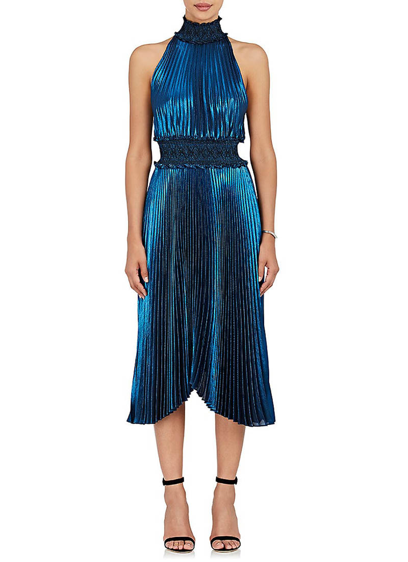 A.L.C. Kravitz Lamé Halter Dress $695