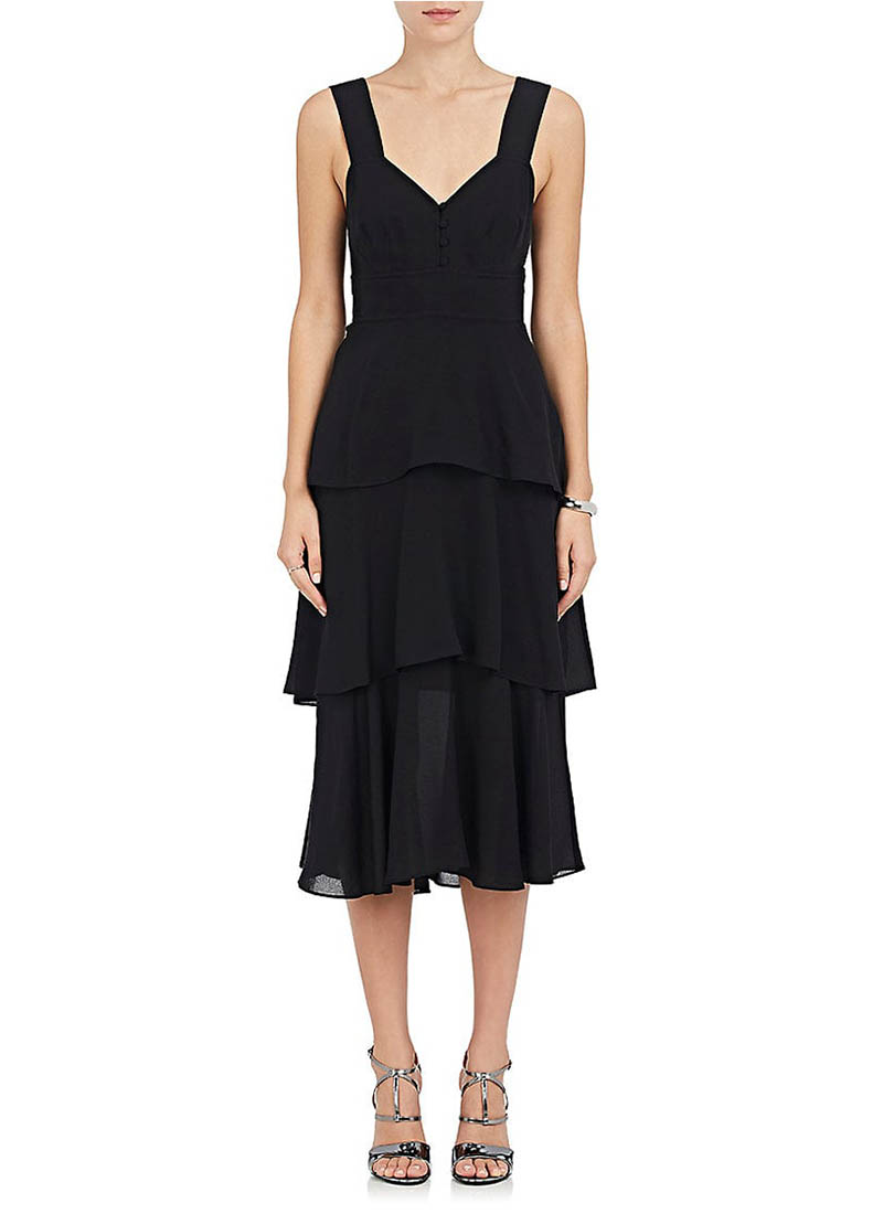 A.L.C. Luna Crepe Tiered Dress $625