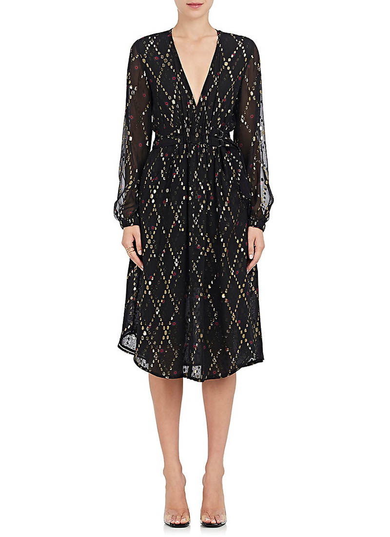 A.L.C. Samantha Silk-Blend Midi Dress $625