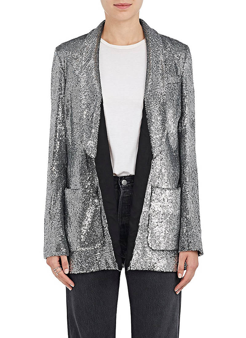 A.L.C. Sequined Open-Front Blazer $695