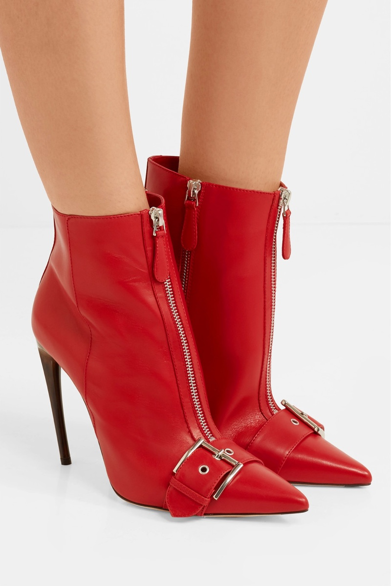 Alexander McQueen Buckled Leather Ankle Boots $756 (previously $1,260)