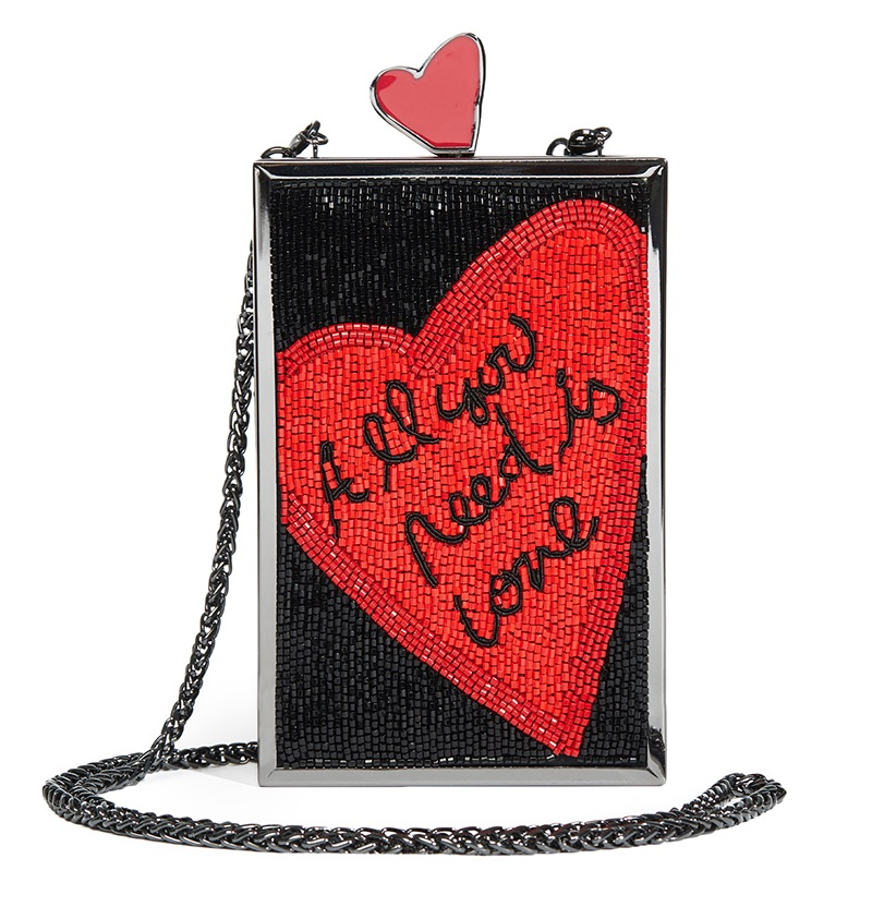 Alice + Olivia x The Beatles All You Need is Love Clutch $495