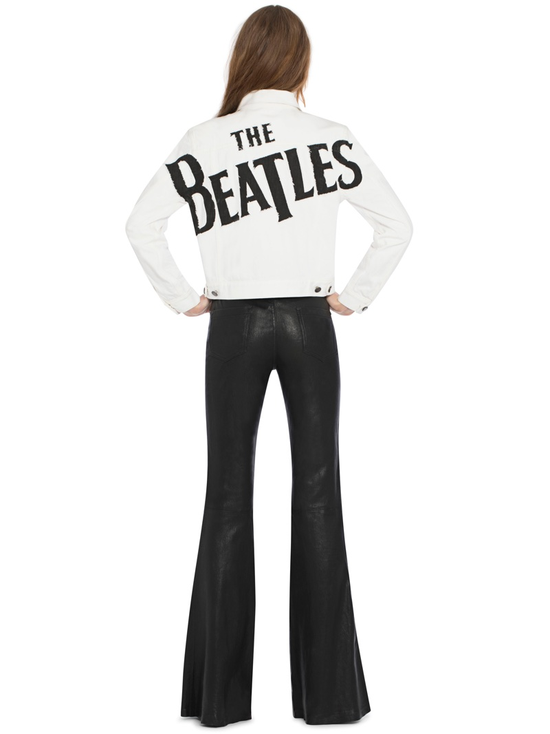 Alice + Olivia x The Beatles Chloe Cropped Jacket $485