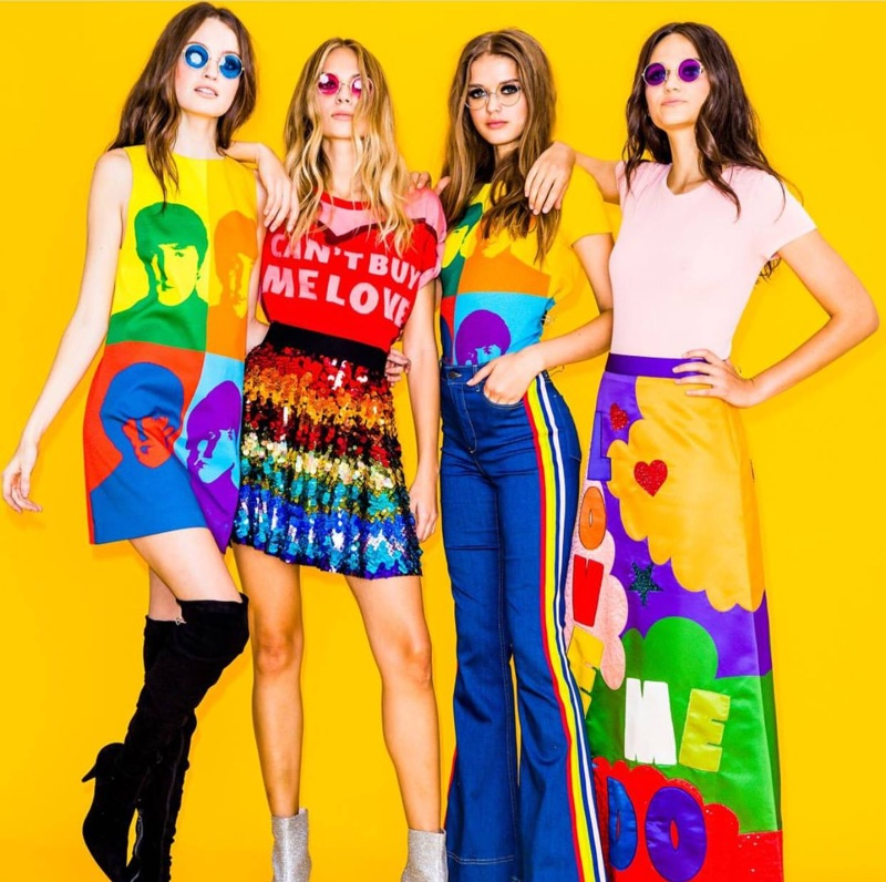 Alice + Olivia x The Beatles clothing collaboration