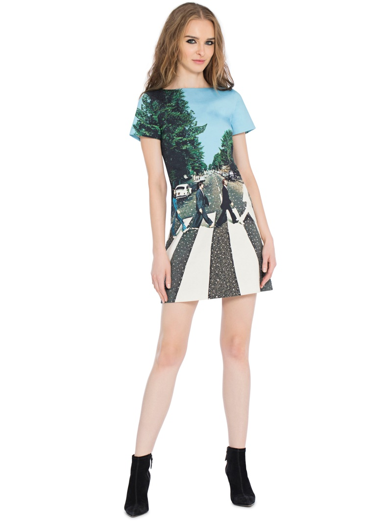 Alice + Olivia x The Beatles Mani Embroidered Dress $695