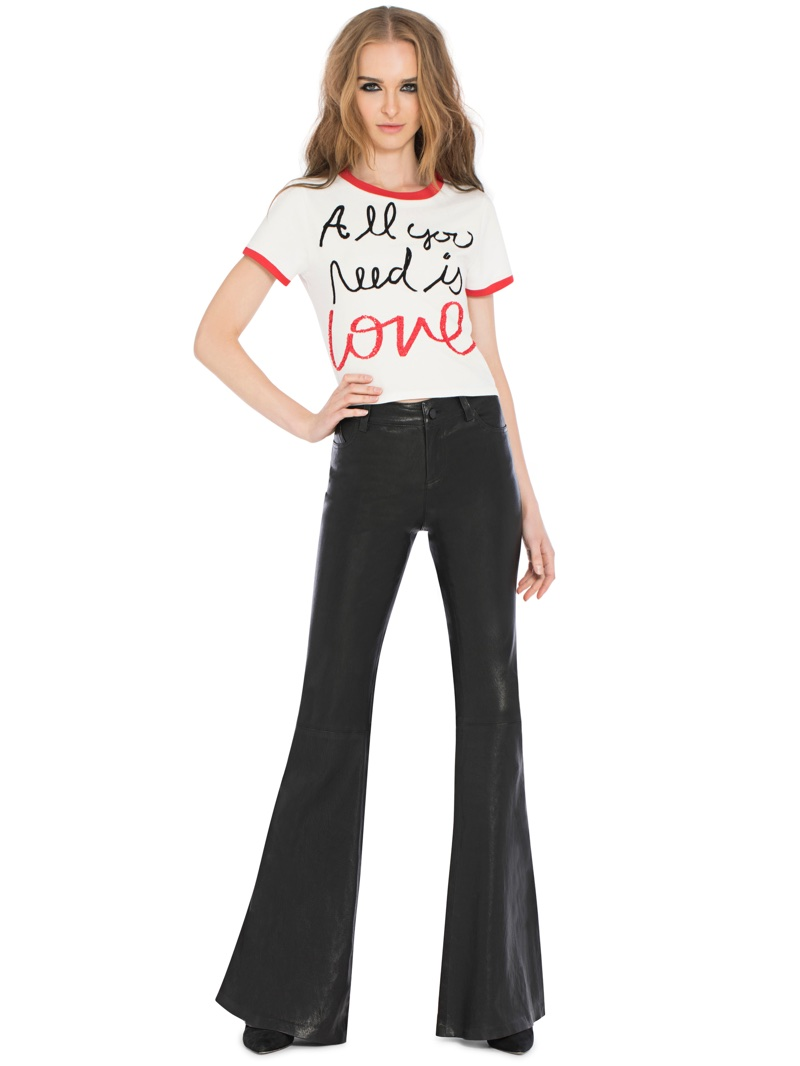 Alice + Olivia x The Beatles Rylyn Embroidered Tee $195