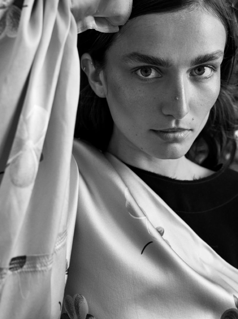 Andreea Diaconu Poses in Ladylike Looks for Unconditional Magazine
