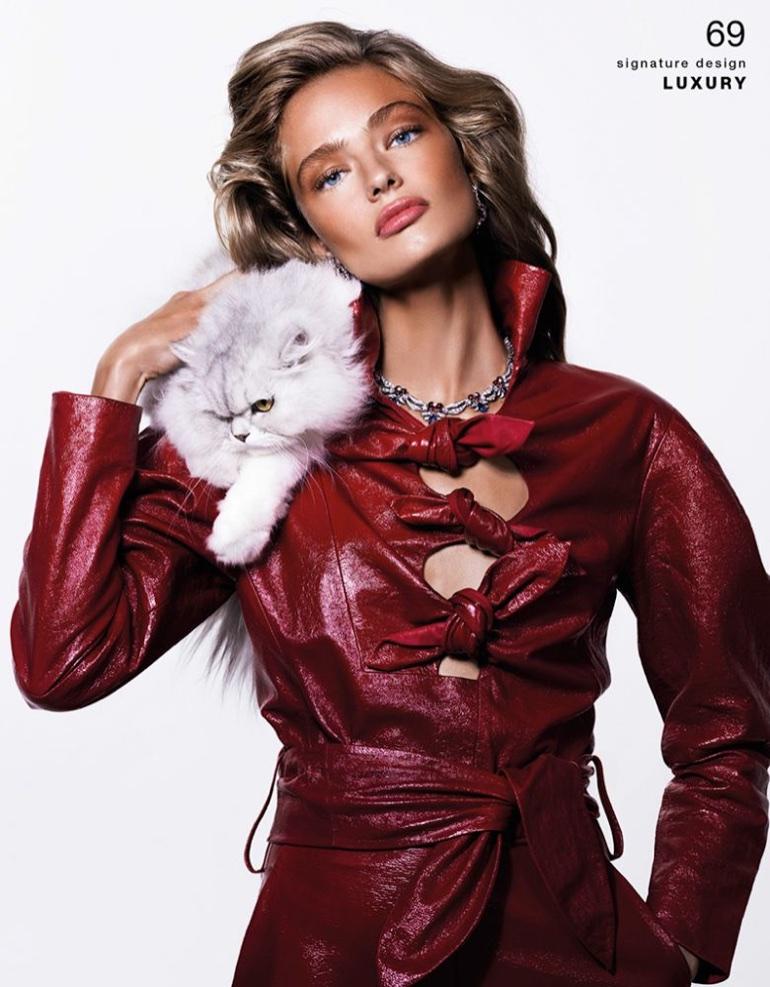 Anna Mila Guyenz Shines in Precious Gems for Vogue Taiwan