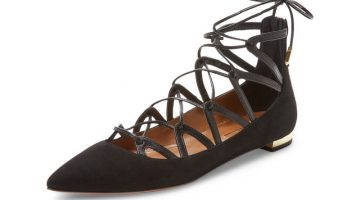 Aquazzura Maya Leather Flat $289 (previously $750)