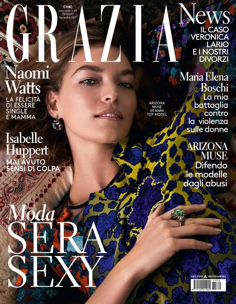 Arizona Muse Wears Chic Fall Styles for Grazia Italy